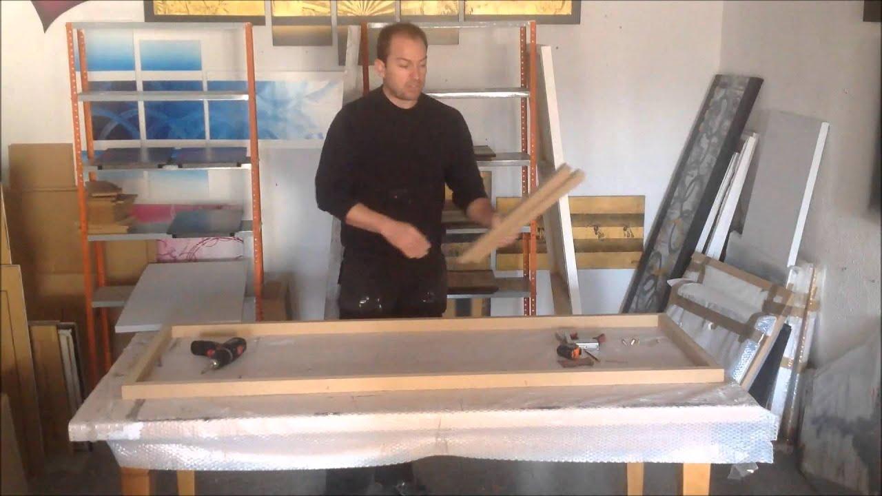 Como hacer un bastidor para lienzo viyoutube - Enmarcar lienzo ...