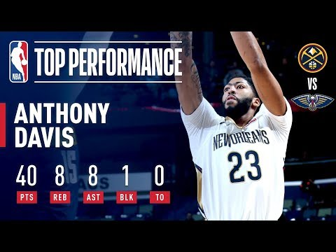 Anthony Davis Consecutive 40 Point Games After Win Against Nuggets | November 17, 2018
