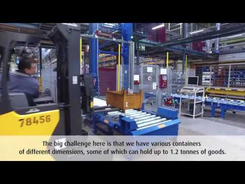 Scalable and flexible production logistics for assembly line