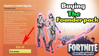 Buying Fortnite Founder Pack is it worth $110 limited edition