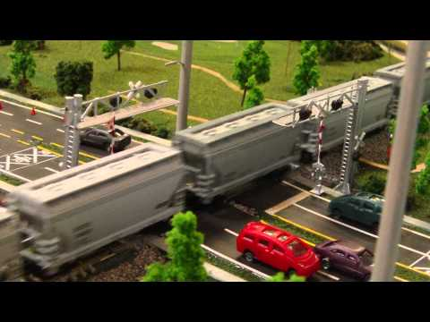 FEC N Trak – Train crossing Daytona Beach Golf Course Crossing