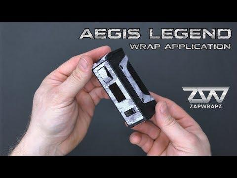 Geek Vape Aegis Legend wrap application video by Zapwrapz