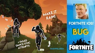 Fortnite | Make it Rain emote bug + FAILED Dance Sync Attempts