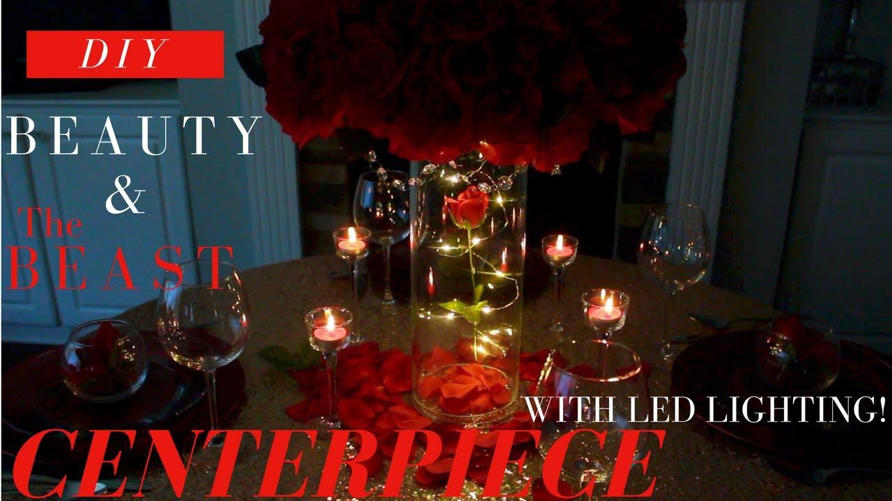 Lighted Diy Beauty The Beast Centerpiece Dollar Tree Wedding