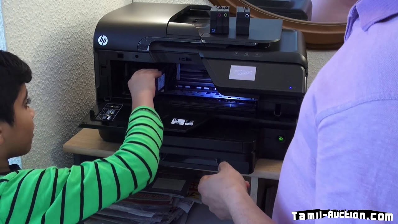 How To Change Hp Officejet Pro 8600 Printer Cartridges Tamil