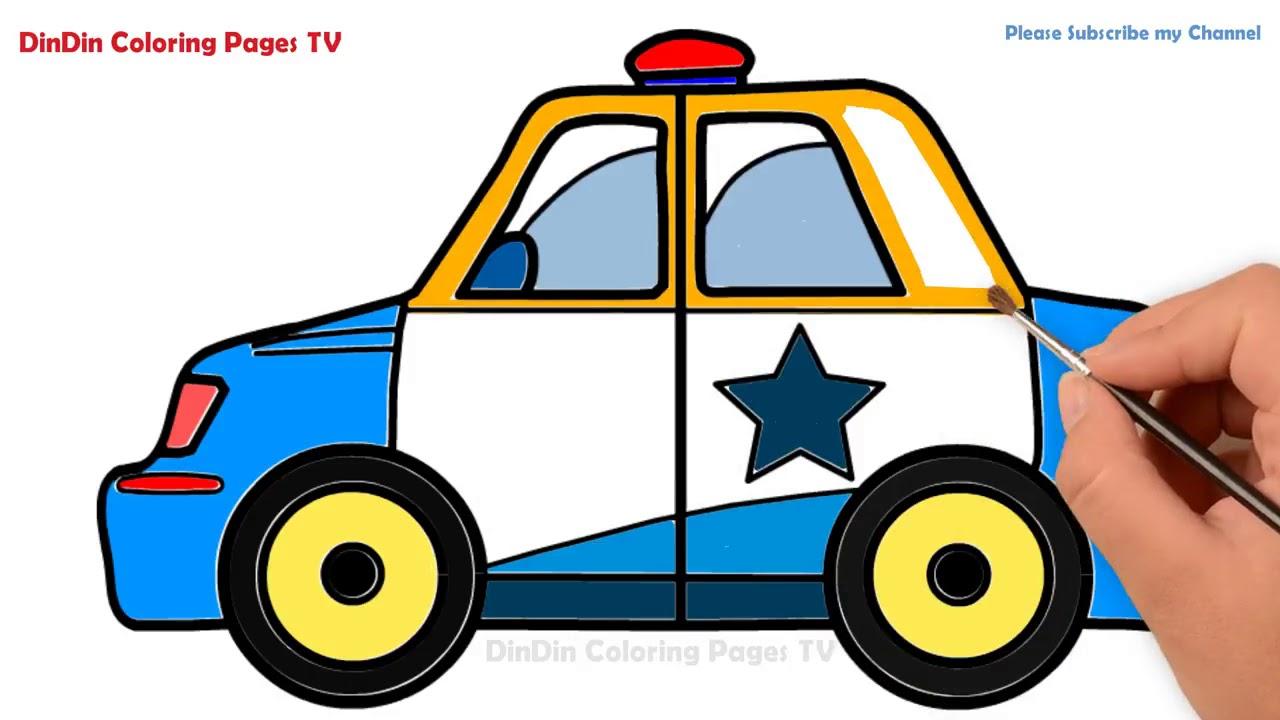 wie zeichnet man polizeiauto  malvorlagen für kinder
