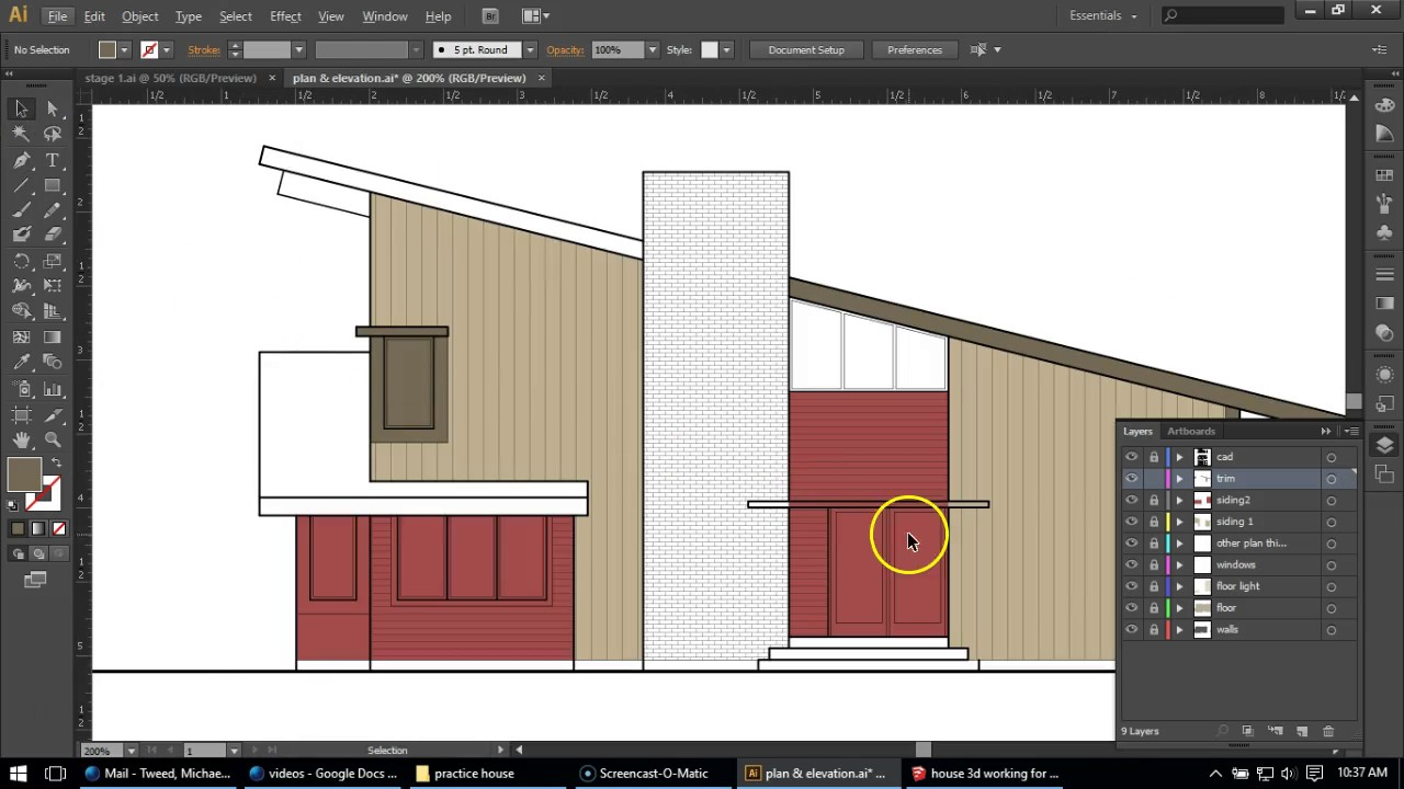 Rendering An Elevation In Illustrator Youtube