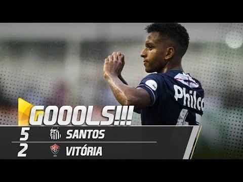 Santos 5 x 2 Vitória | TODOS OS GOLS | Brasileirão (03/06/18)