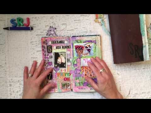 Travelers Notebook Flip Through Video:  Junk Journal With Collage and Photos