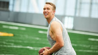 Super bowl lll mvp nick foles describes how yoga keeps his mind clear and helps him stay in the zone. see he edge on off field by pract...