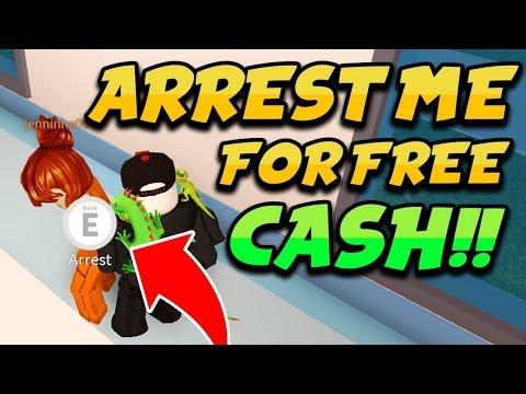 ARREST ME FOR FREE CASH!! (Roblox Jailbreak) | NOCLIP COP HACKERS!! | 🔴 ROBLOX LIVE