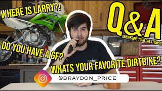 My First EVER Q&A! Where's LARRY?!