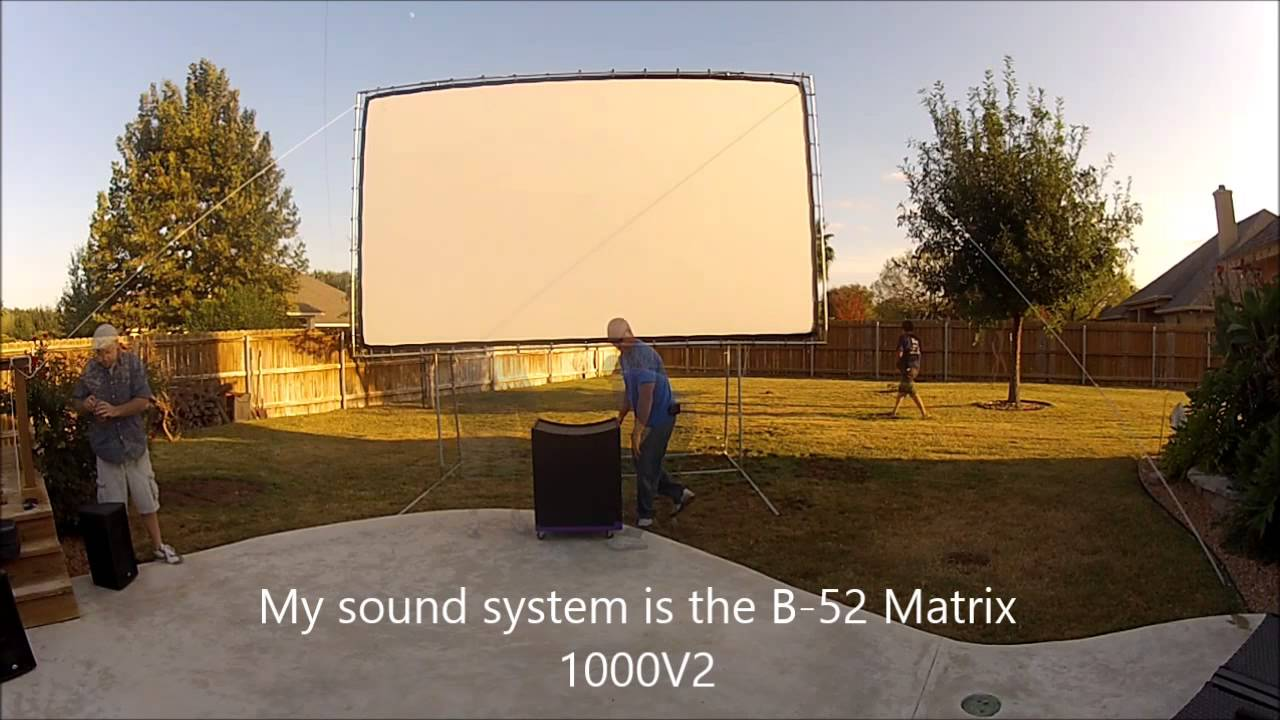 Backyard Theater Setup