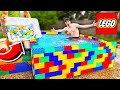 PUTTING 500 BATH BOMBS IN A LEGO POOL!