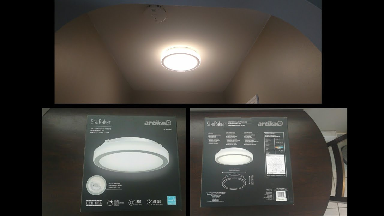 starraker artika led ceiling light from costco unboxing and how to install