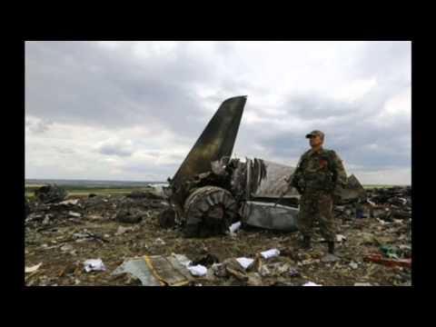 Pro Russian rebels shot down Ukrainian military plane   SITE STILLS