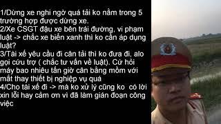 CSGT Mỹ Hào, Hưng Yên, đuổi theo xe chặn đầu đít, nghi ngờ quá tải, tài xế đòi đi cân, thả cho đi
