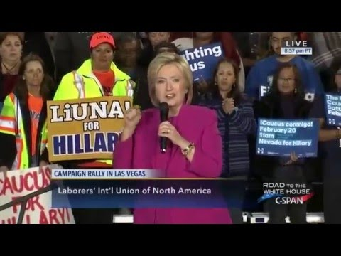 Presidential Candidate Hillary Clinton Rally in Las Vegas