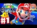 Super Mario Galaxy - Gameplay Walkthrough Part 1 - Intro! Good Egg Galaxy (Super Mario 3D All Stars)
