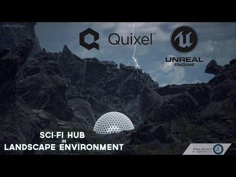 Sci-Fi Hub in Landscape Environment [CGI Scene]