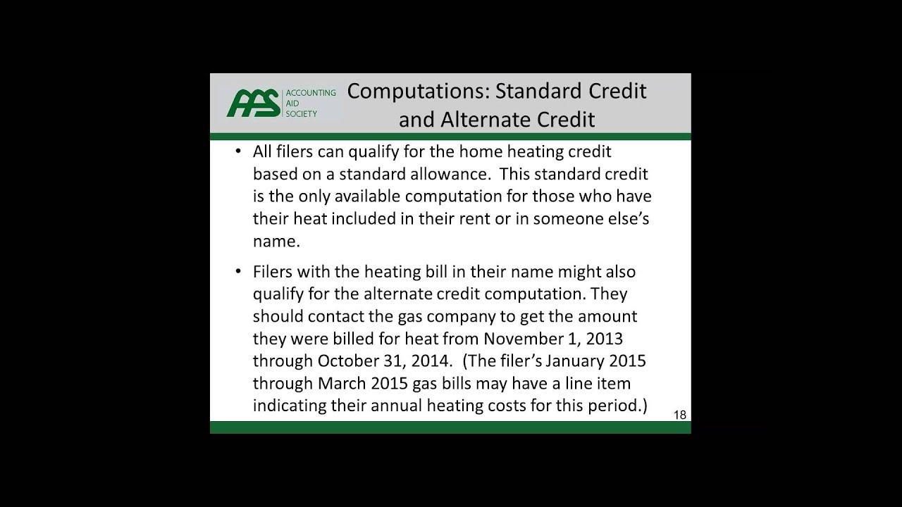 Michigan Home Heating Credit Refresher Maximizing Resident ...