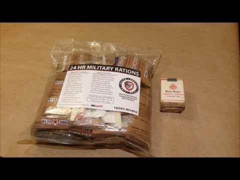 Mre Review Black Dog Bobs 24hr Ration plus the Oldest Cigarette Ever Smoked!!!!!!