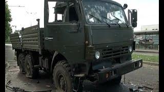 В Киевском районе Донецка уничтожили два КамАЗа с боевиками батальона