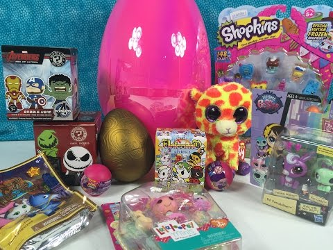 Shopkins LPS Beanie Boos MLP Big Surprise Egg Special Shoutouts & Gift