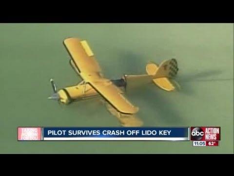 pilot survives crash into gulf