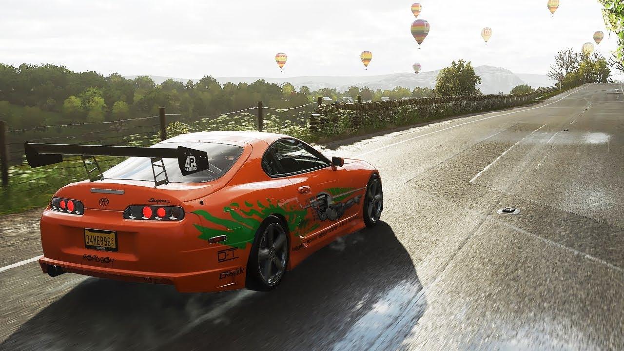 1600BHP Toyota Supra - Forza Horizon 4 | Logitech g29 gameplay