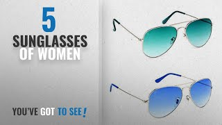 Top 10 Sunglasses Of Women [2018]: Y&S Combo Pack Of Uv Protected Stylish Branded Aviator