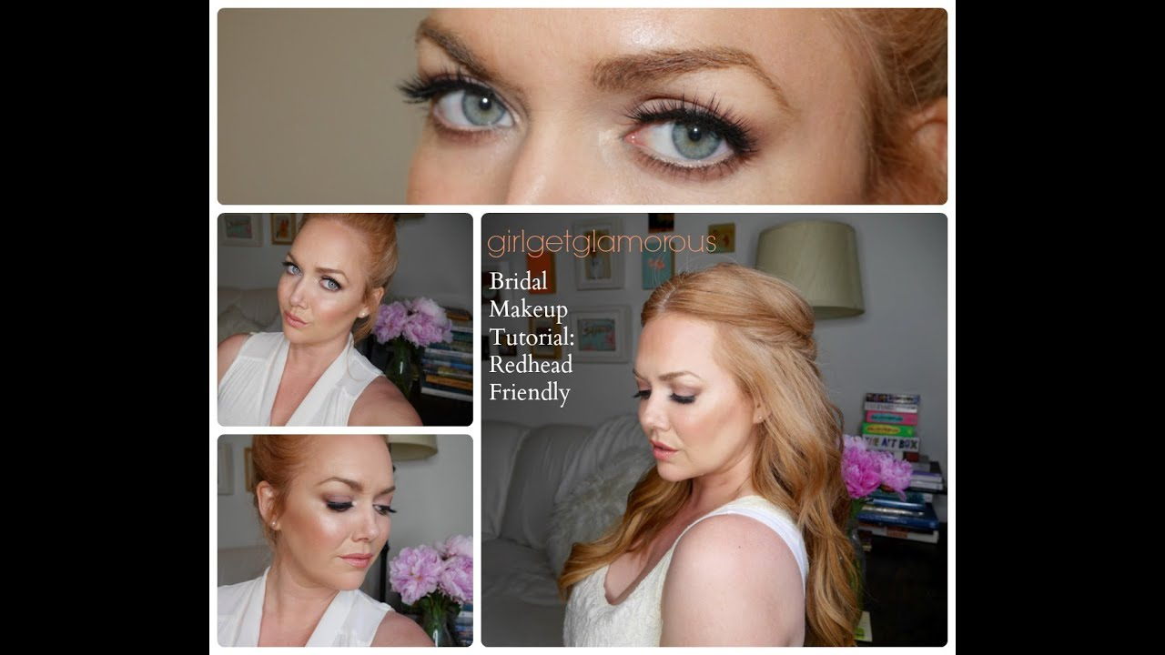 romantic bridal makeup for red hair + strawberry blondes // full