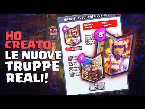 (LIVE) CREO LE NUOVE CARTE REALI IN LIVE - Rarità: REALI Clash Royale