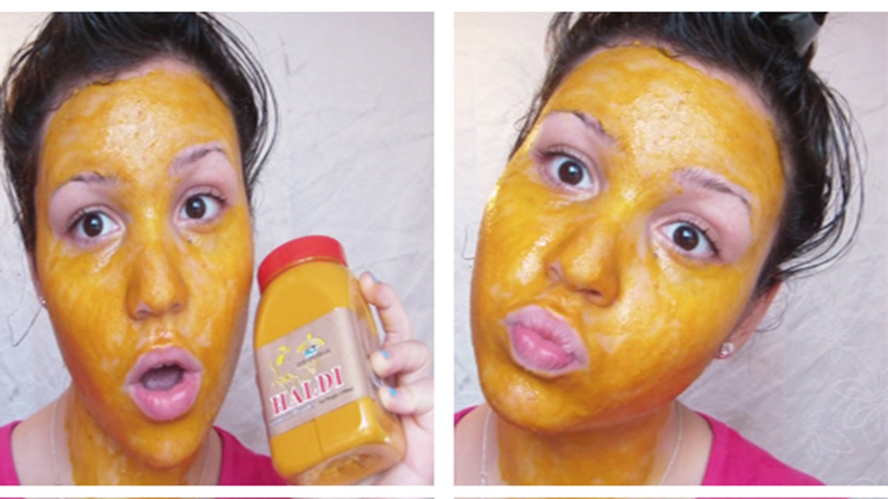 how to get tumeric powder of face