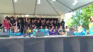 Grand Opening 2014: UN Intl Choir and Swara Ragalaya (Houston) Indian Music Fusion