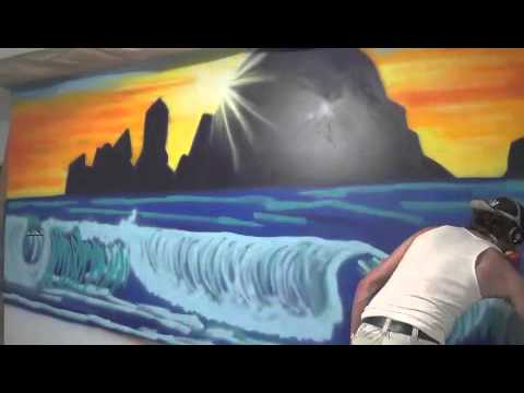 Time Lapse Video Of Spray Paint Wall Mural Youtube