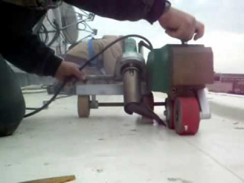 Leister Heat Weld Roofing Youtube