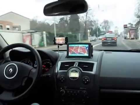 renault megane 2 flip out gps youtube. Black Bedroom Furniture Sets. Home Design Ideas