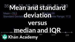Mean and standard deviątion versus median and IQR | AP Statistics | Khan Academy