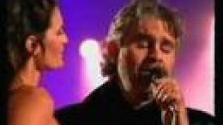 "Andrea Bocelli with his Fiancee ""Les Feuilles Mortes"