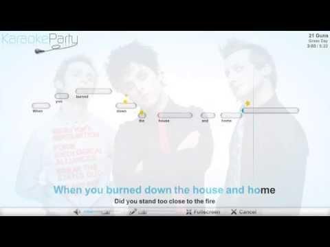 Green Day - 21 Guns - karaoke