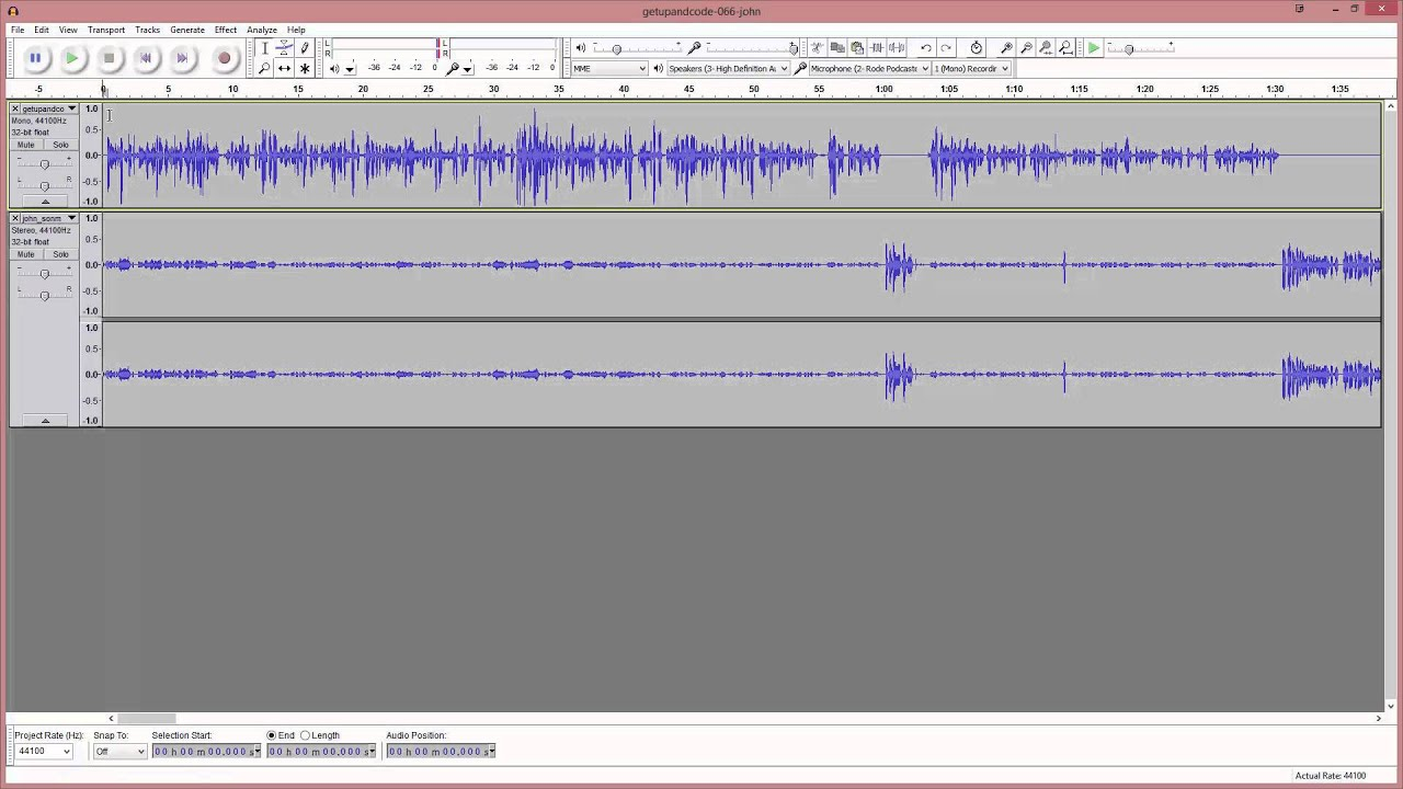 Podcast Echo and Noise Removal Using Audacity