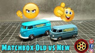 Matchbox 34a Volkswagen Van Old vs New