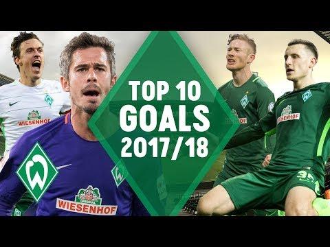 TOP 10 GOALS by SV Werder Bremen 2017/18 | Kruse, Kainz & Eggestein