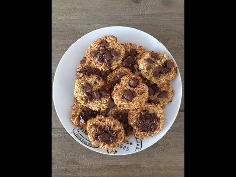 cookies-légers-bananes,-flocons-d'avoine-et-chocolat.