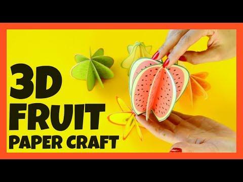 3D Fruit Paper Craft for Kids - paper craft ideas