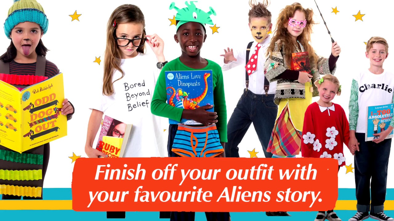 How to dress up as Aliens Love Underpants on World Book Day  sc 1 st  YouTube & How to dress up as Aliens Love Underpants on World Book Day - YouTube