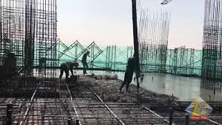 Clip đổ bê tông sàn tầng 32 Dự án Thái Nguyên Tower