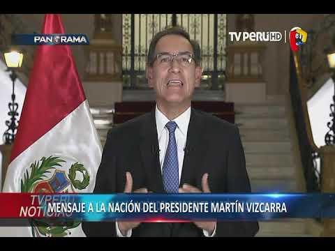 Presídente Vízcarra pide cuestión de Confianza en mensaje a la Nación