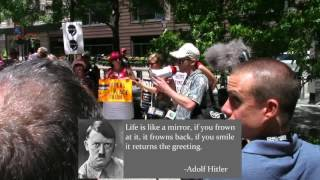 Anti-Fascist, Trump protesters applaud speech comprised entirely of Hitler quotes thumbnail